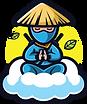 Patient ninja waiting for ramen
