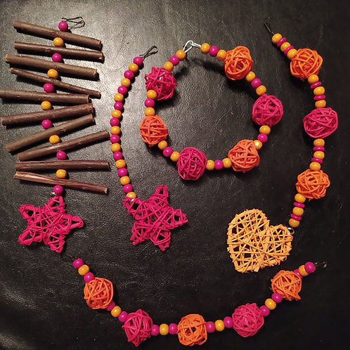 Orange and Dark Pink Set