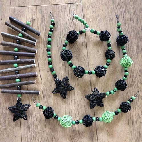 Black and Green Pumpkin Set