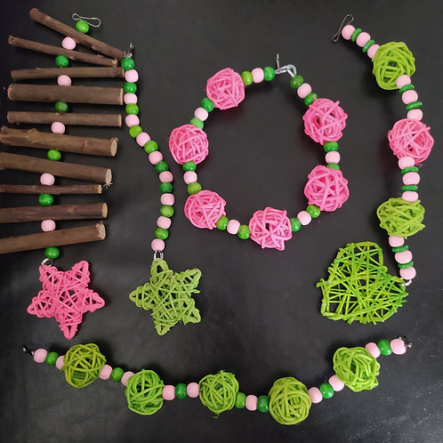 Green and Pink Set