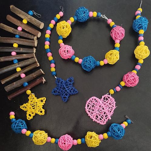 Light Pink, Royal Blue and Yellow Set