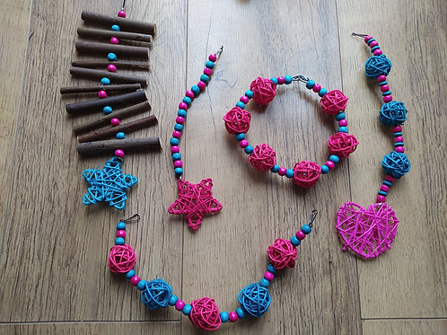 Dark Pink and Turquoise Set