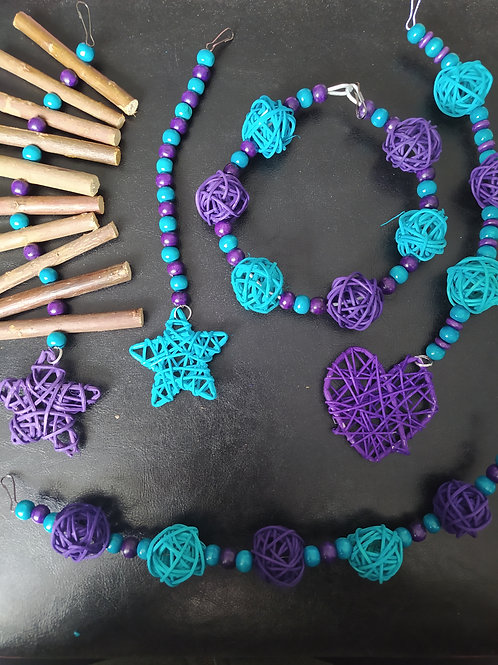 Purple and Turquoise Set