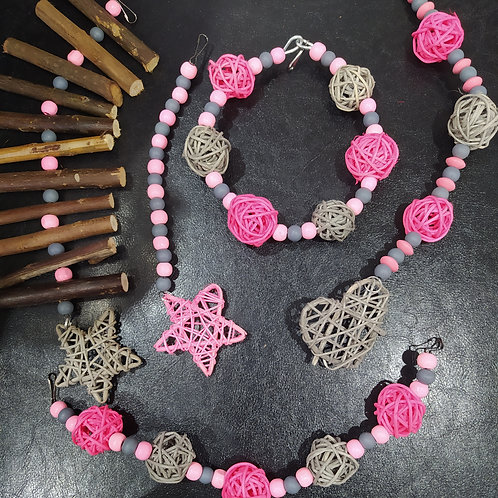 Grey and Light Pink Set