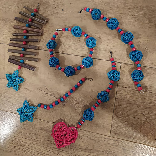 Red and Turquoise Set