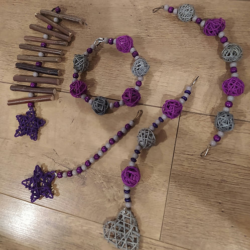 Grey and Purple Set