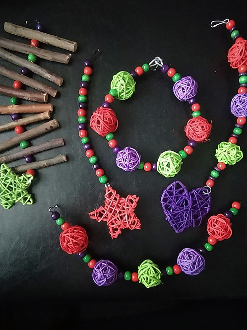 Light Green, Red and Purple Set