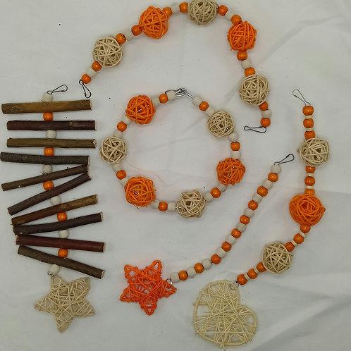 Beige and Orange Set