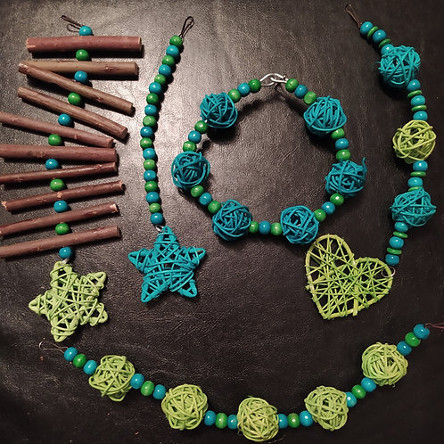 Green and Turquoise Set