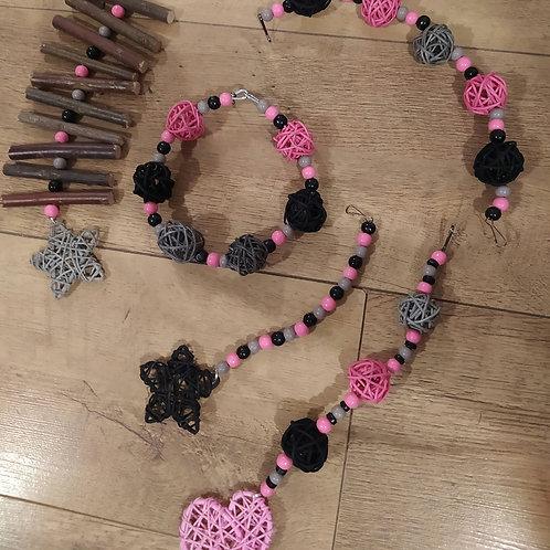 Black, Grey and Light Pink Set