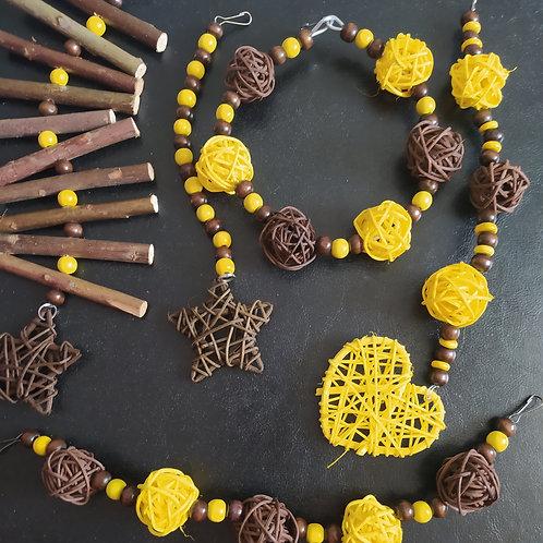 Brown and Yellow Set