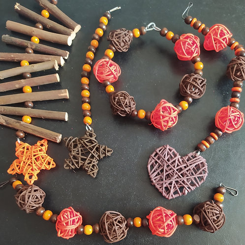 Brown and Orange Set