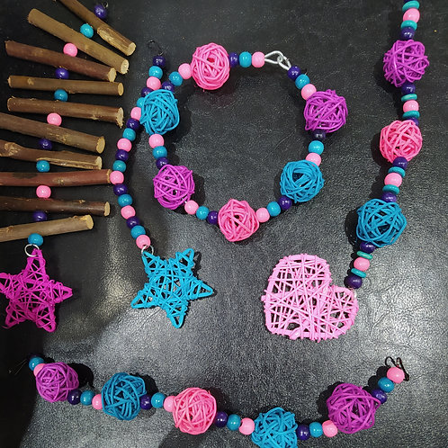 Light Pink, Purple and Turquoise Set