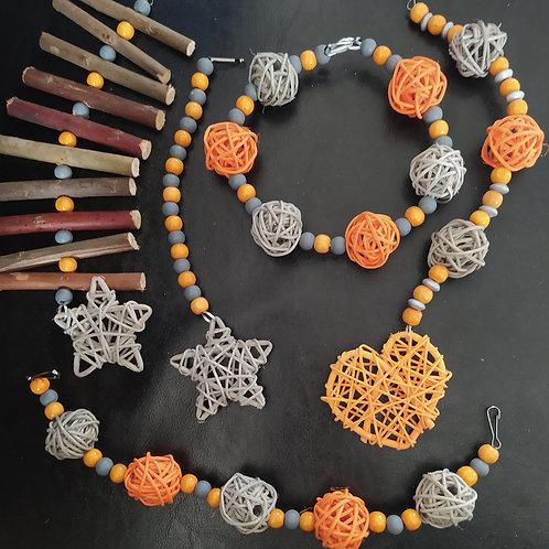 Grey and Orange Set