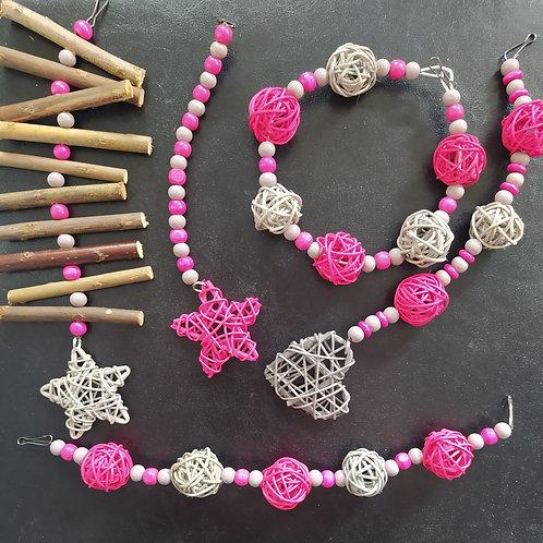 Grey and Dark Pink Set