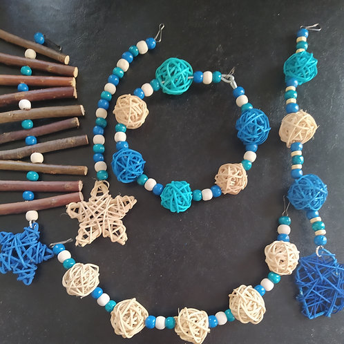 Beige, Blue and Turquoise Set