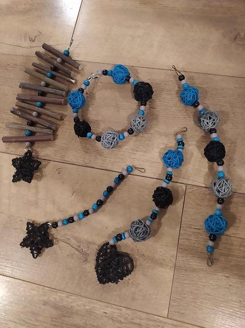 Black, Grey and Turquoise Set