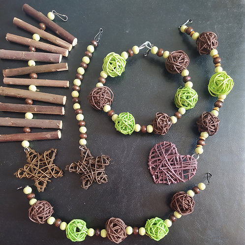 Brown and Light Green Set