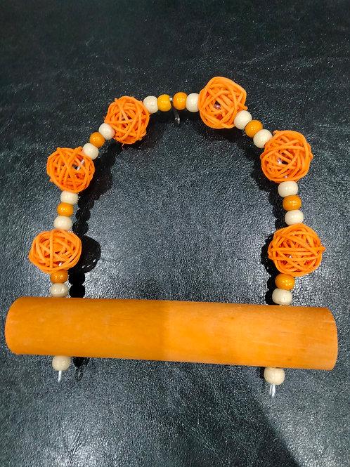 Jumbo Perch Beige/Orange