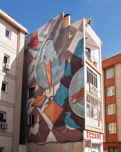 İstanbul, Fotoğraf: Bigumigu, Mural İstanbul