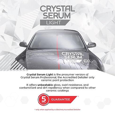 Small brochure cards CRYSTAL SERUM LIGHT