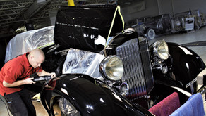 1934 Packard 12 paint correction and polish