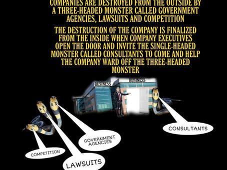 The destruction of a business