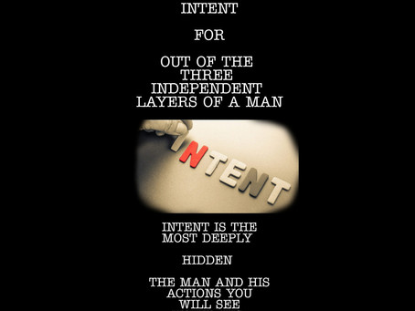 INTENT OF A MAN OR WOMAN...
