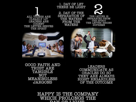 Two days in the life of every company...