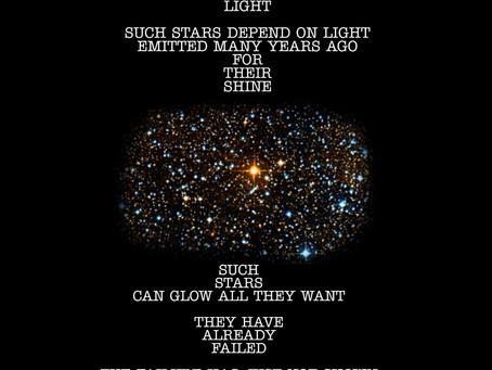 Not every bright star is still burning...