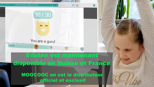 EDUTEN désormais disponible en Suisse et en France