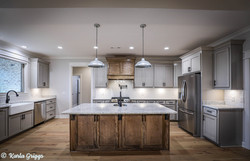 Custom cabinetry completes the kitchen