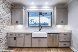 Custom kitchen with farmhouse sink