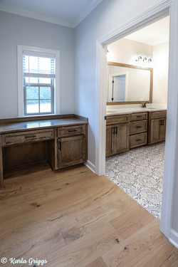 Custom cabinetry accents