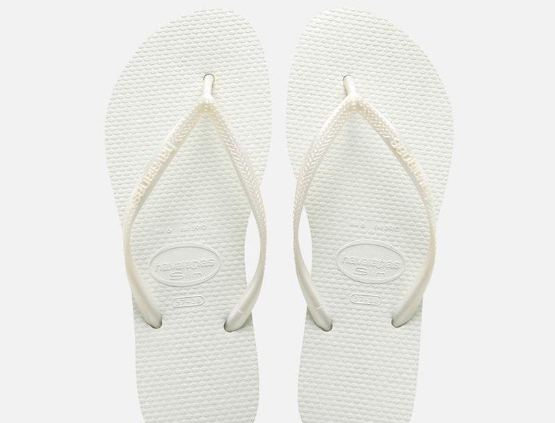 הוויאנס סלים לבן Havaianas Slim Flip Flops