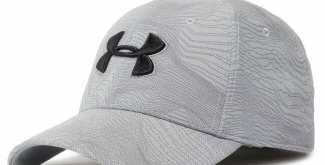 כובע אנדר ארמור קלאסי אפור לוגו שחור Classic black Under Armor hat