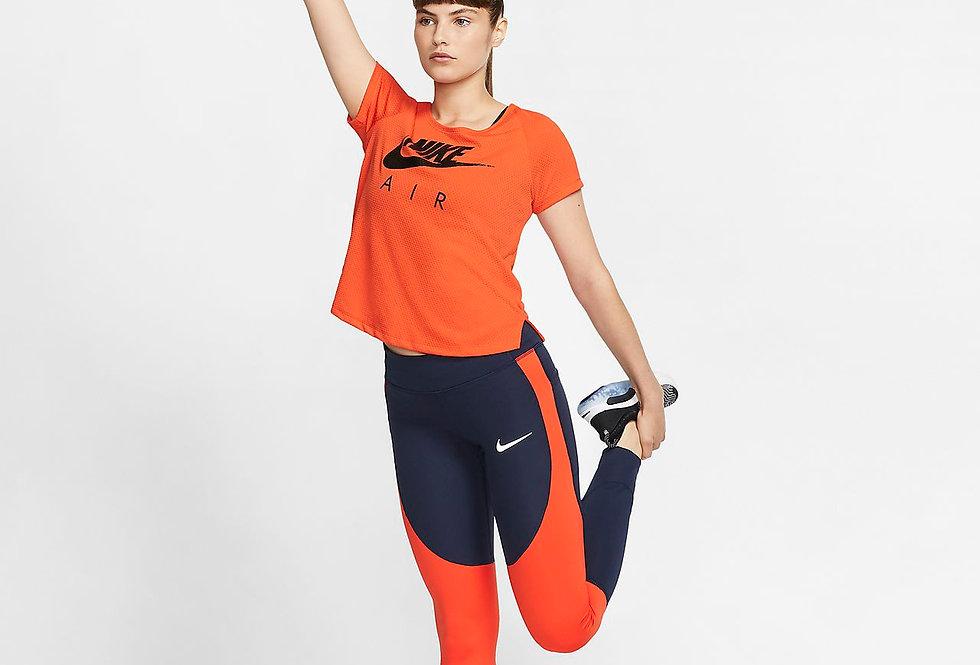 טייץ נייק גזרה גבוהה כחול כהה Nike tights women