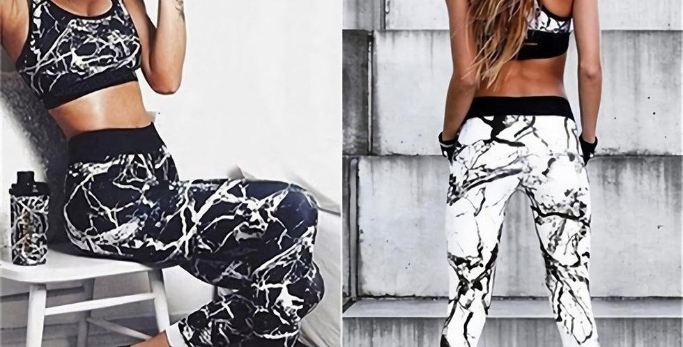 Women's Black Fitness Legging Slim טייץ דרייפיט נשים