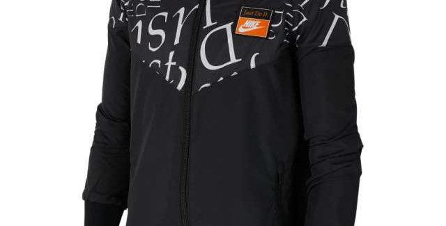 מעיל נייק שחור Nike Just Do It sportswear