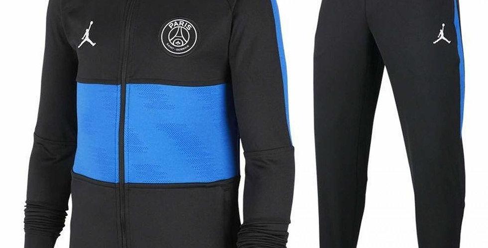 חליפת ספורט מכנס+גק'ט ג'ורדן שחור כחול NIKE PARIS SAINT-GERMAIN DRY STRIKE TRACK