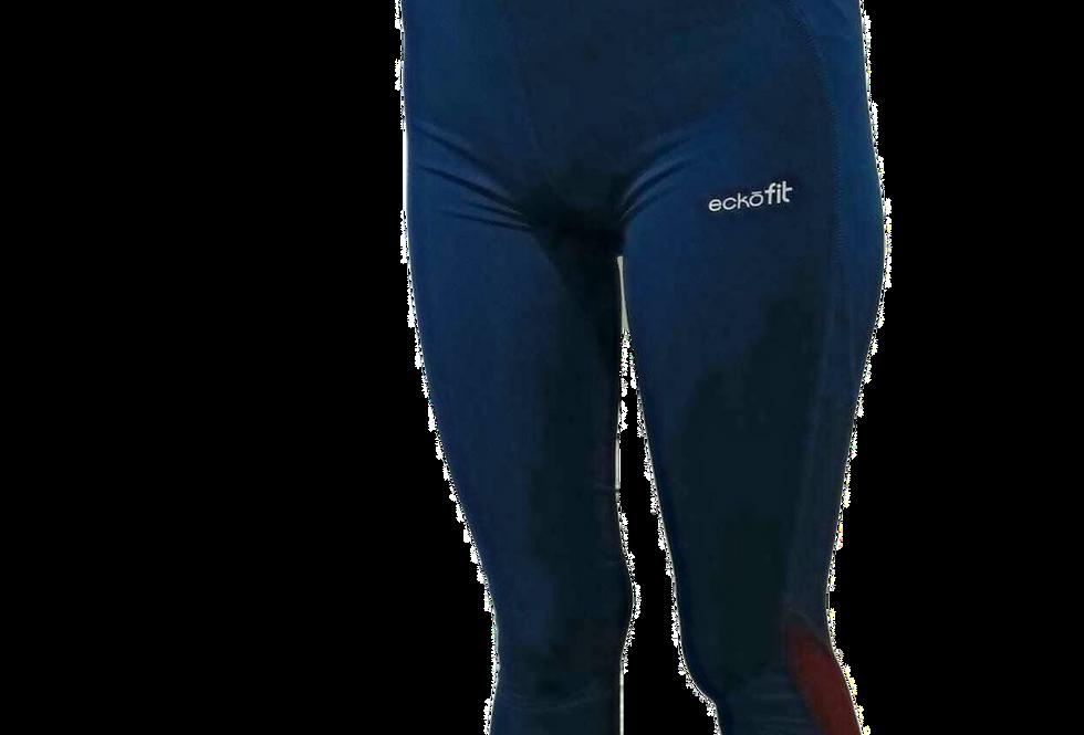 טייץ אקו מנדף זיעה כחול סגול דרייפיט גזרה גבוהה Purple Blue Tights Ecko Unltd