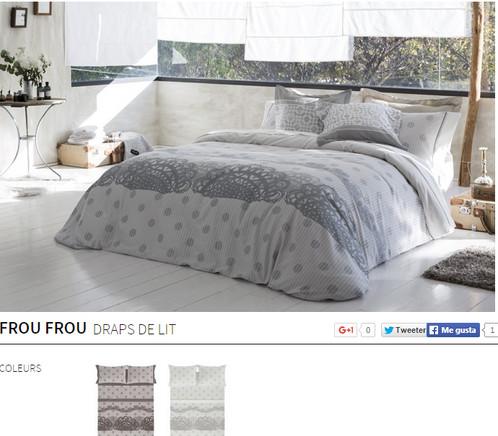 drap de lit 2 places rochas fullmoon. Black Bedroom Furniture Sets. Home Design Ideas