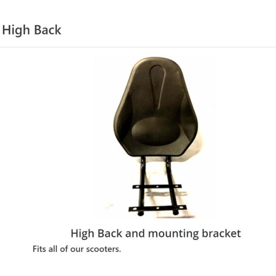 High Back with Mounting Bracket