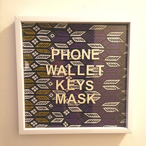 """Picture Frame  """"Phone Wallet Keys Mask"""""""