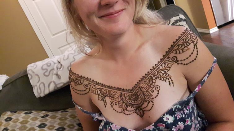 Henna Chest Tattoo