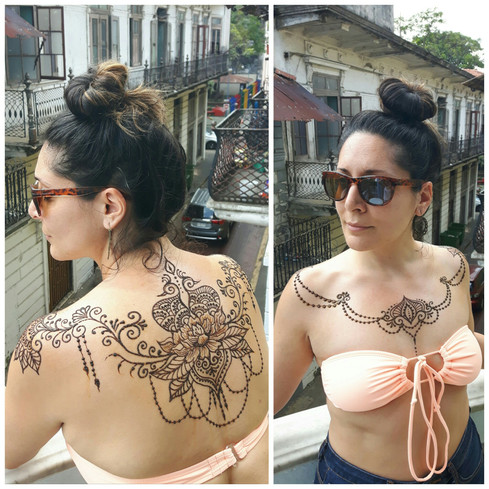 Chest and Back tattoo