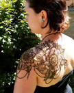Floral mandala shoulder & back