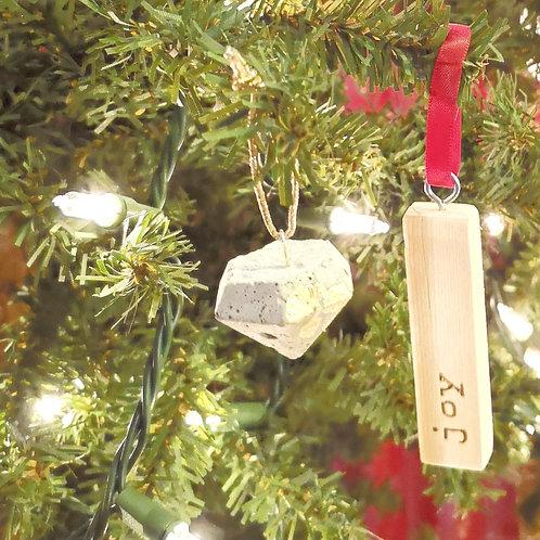 Christmas Tree Ornament - Cement Diamond