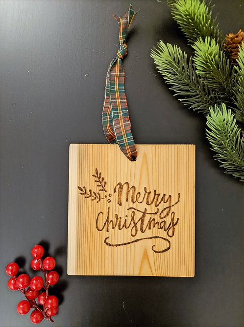 """""""Merry Christmas"""" Wood Plaque"""