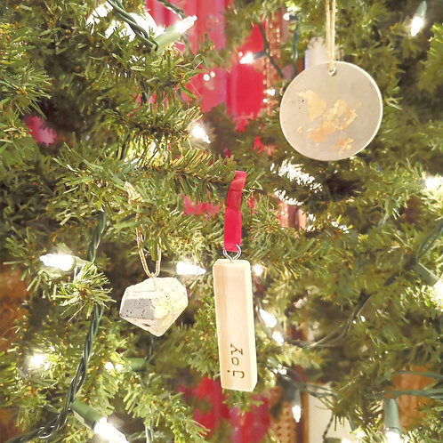 Christmas Tree Ornament - wooden